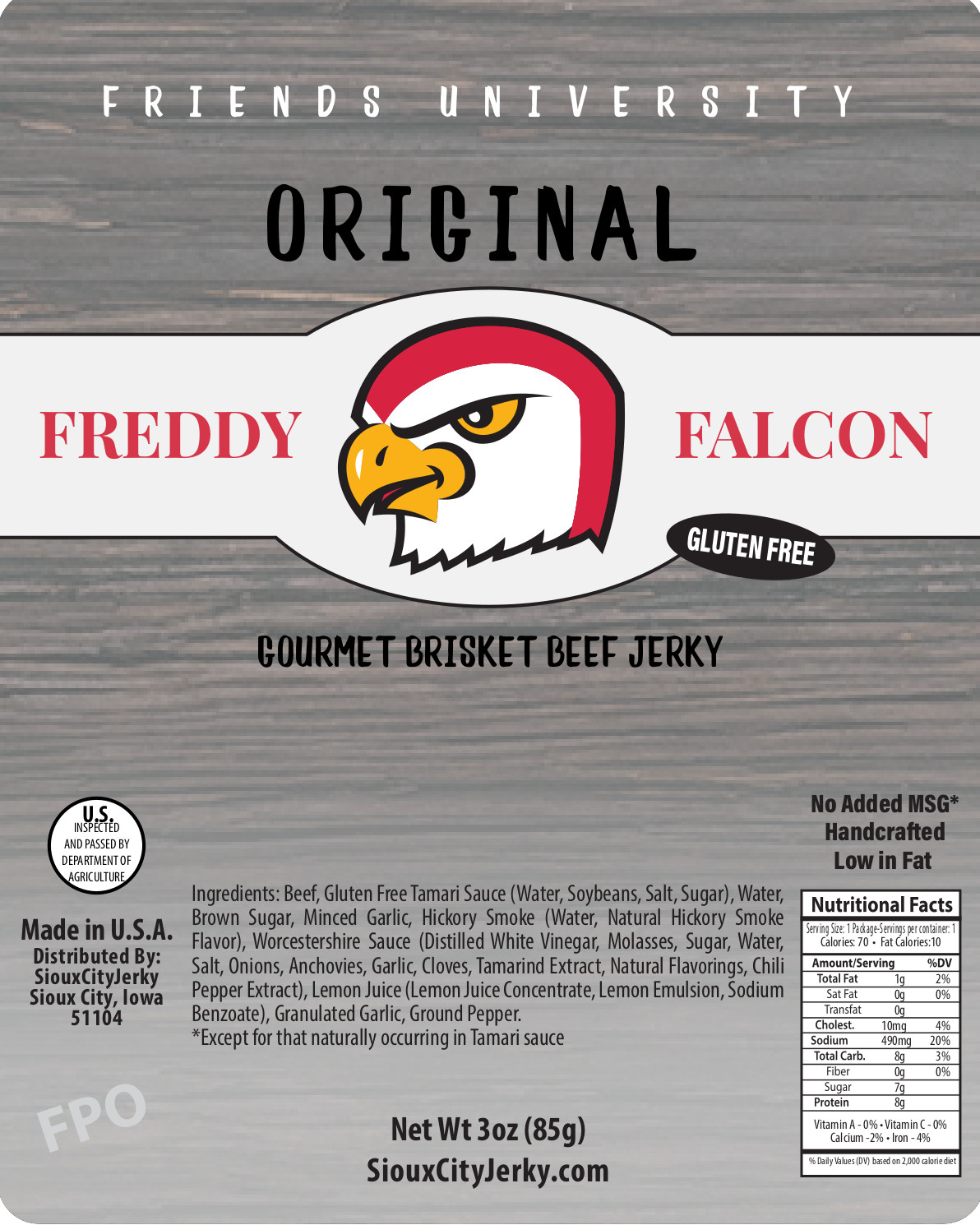Freddy Falcon Original Beef Jerky