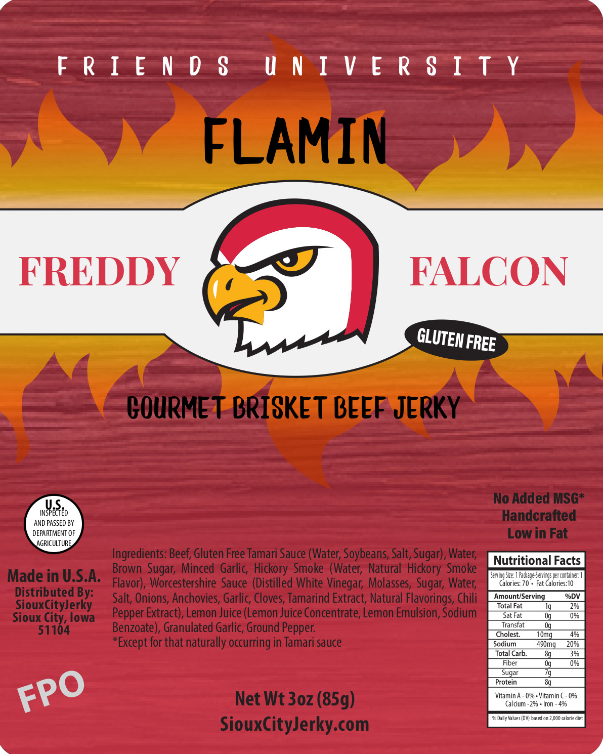 Freddy Falcon Flaming Beef Jerky