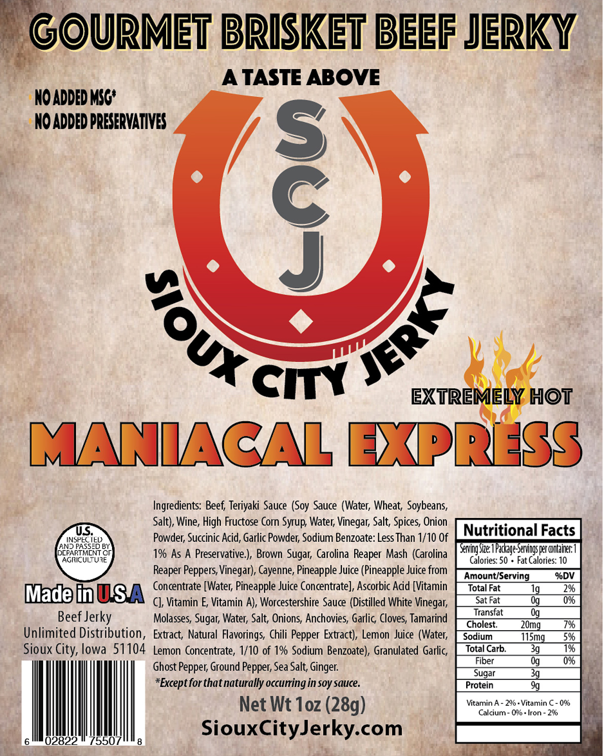 Maniacal Express Beef Jerky
