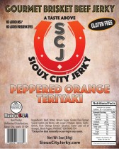 Peppered Orange Teriyaki Beef Jerky