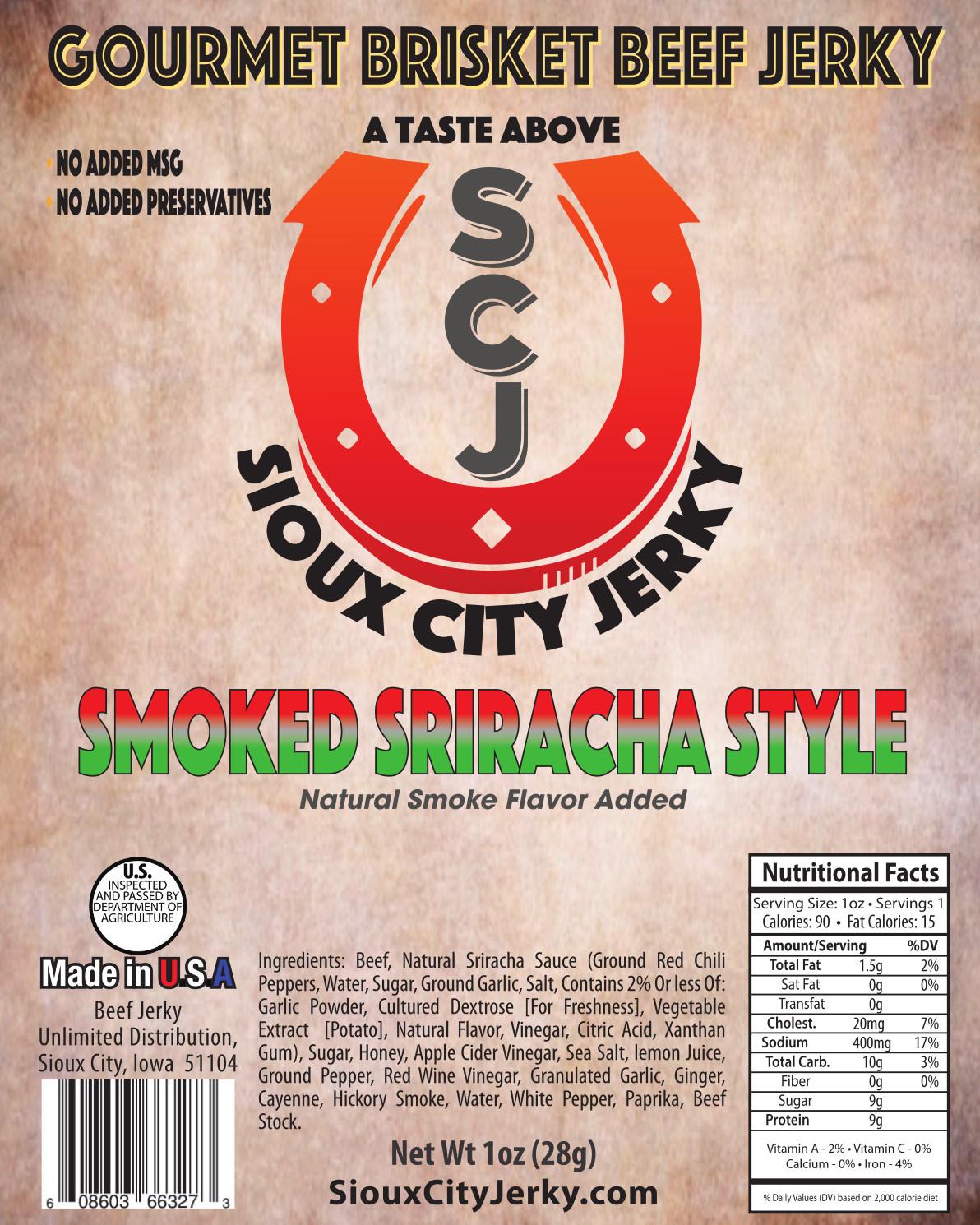 Smoked Sriracha Beef Jerky